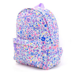 2020 stylish waterproof cotton fabric child cute floral school backpack girls
