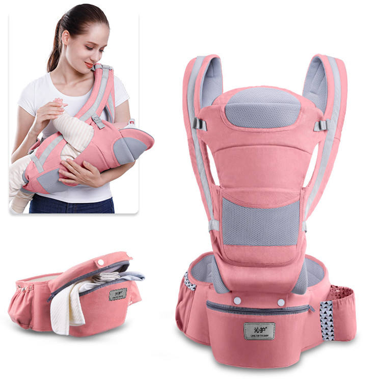Baby carrier original baby carrier with lumbar support and 360 all omni organic baby wrap carrier