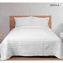 100% Polyester Hot Sale queen Size Comfortable Satin Embroidered bedspread sets Quilt