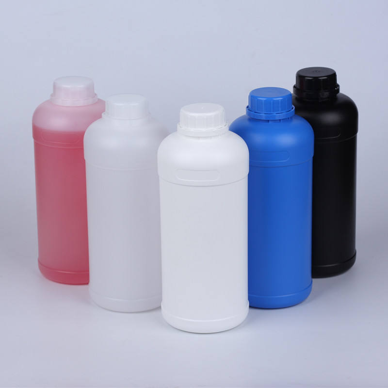 1 Liter Industrial Plastic Bottles Food Grade Material PE Natural Color HDPE Narrow Mouth Bottle