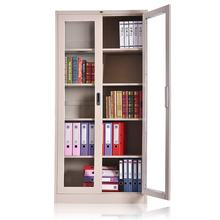 2 swing glass doors adjustable shelves cupboard hot sales steel cabinet with plastic handle lock