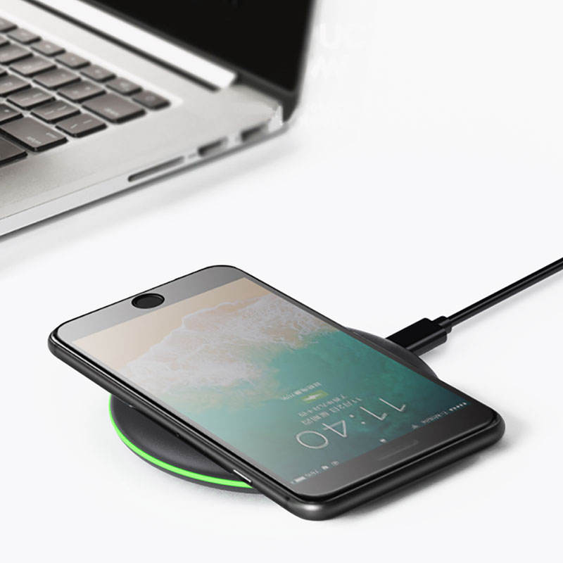 WIWU High Speed Type C Wireless Charger for iPhone Ultra-Thin Fast Charging Black 10W