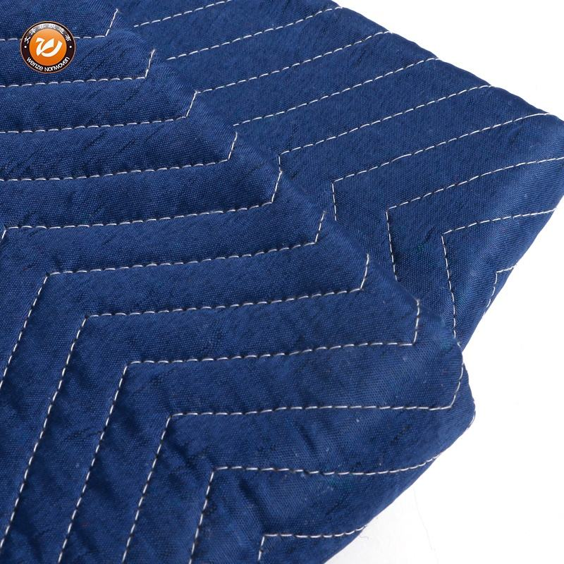 textile 72 x 80 inches blue polyester farbrics moving and packaging blanket 3kg/pcs 3.15kg/pcs