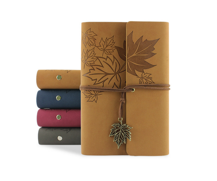 leather composition agenda planner notebook note book