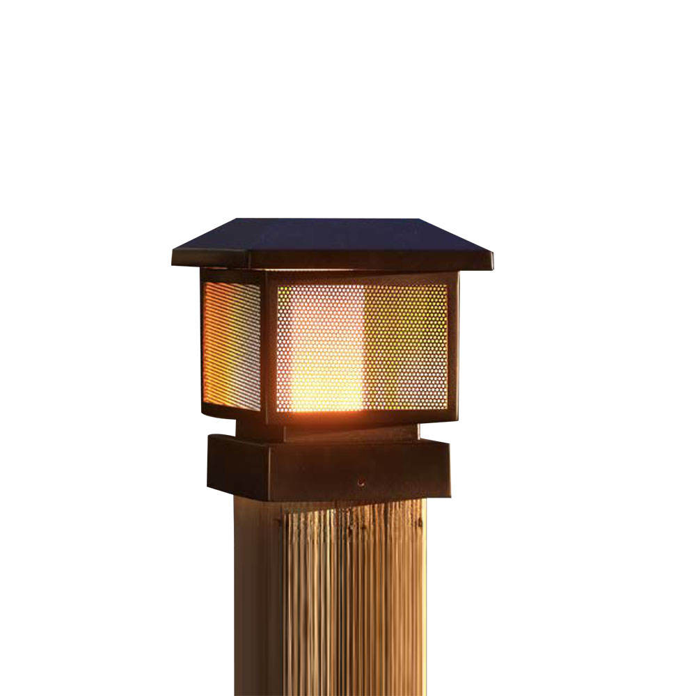 New Style Outdoor Garden Lamp Decorative LED Fence Security Solar Post light for Gate Deck Post