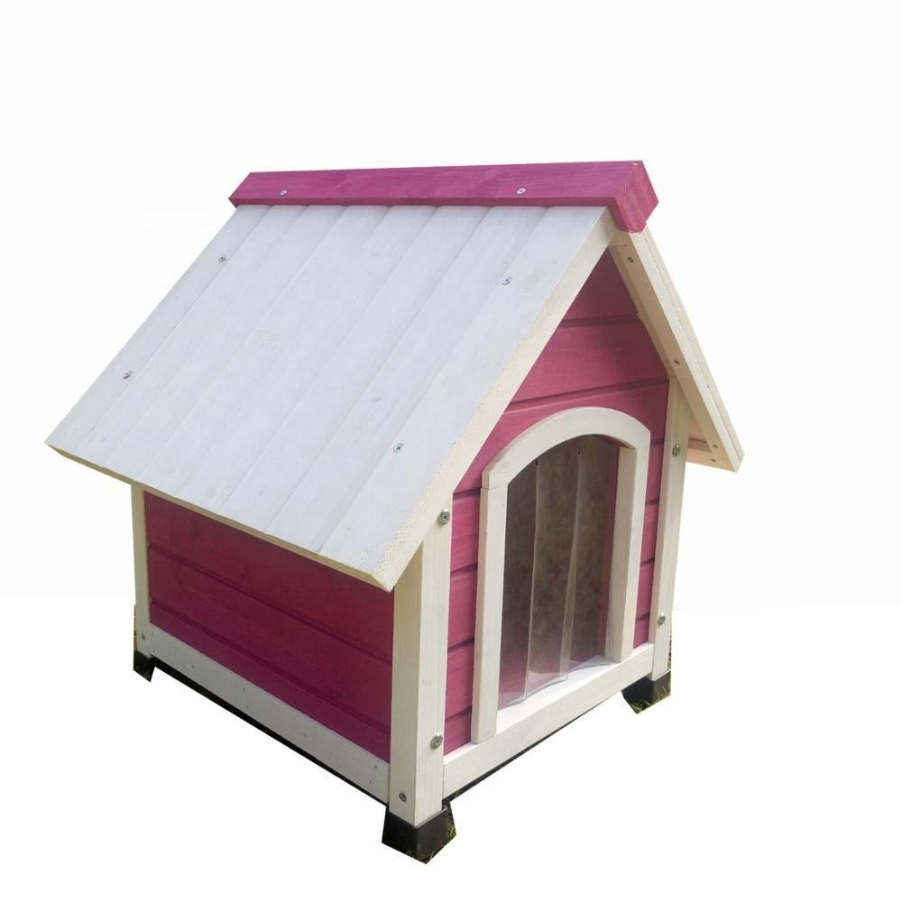 Wholesale Cheap Price Small Wooden Log Cabin Dog House w/Opening Roof for Small Dogs Outdoor Kennel Pet Shelter