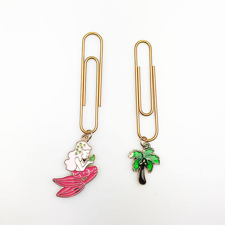 Customized Girl Tree Shaped 펜 던 트 장식 Metal 책 Mark Paper Clip Set
