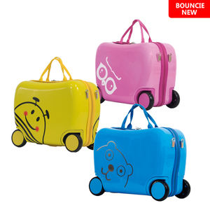 New Production 18 Inch Customized Cartoon Design Multi-color ABS Hard Shell Kids Ride On Luggage For Children