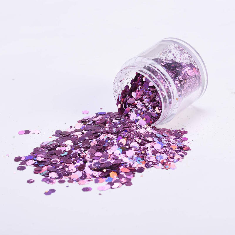 12 Colors Chunky Cosmetic Glitters Sparkle Makeup Glitter for Festival Party Face Body Hair Nail eye Decoration