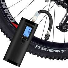 High pressure compact battery bicycle pump and accessories for bike and motorcycle tire