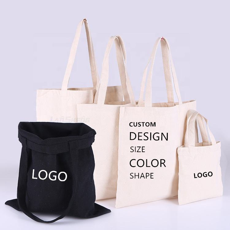 Organic Custom Cotton bag 100% Cotton Tote Bag Cotton Shopping Bags with Logos