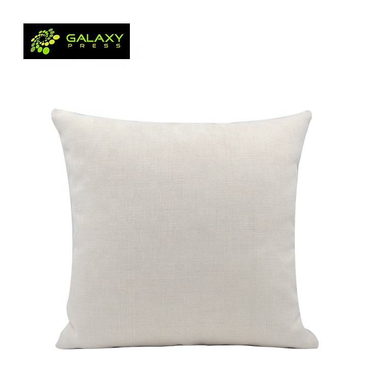 Sublimation Textile Pillow Cover Throw Blanks Linen Pillow Case