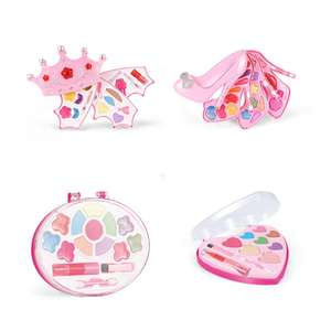 high-heeled shoes an crown moonplastic girls make up table toy set make-up for kids girls