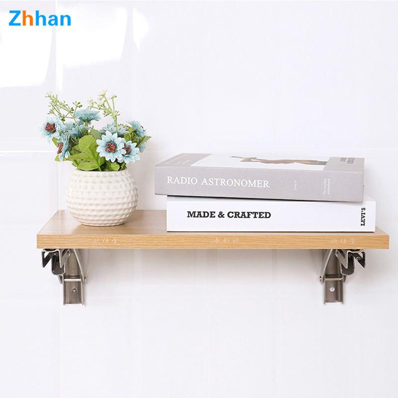 Metal Shelf Bracket Triangle Adjustable Stainless Steel L Angle Wall Mounting Shelf Metal Folding Table Bracket