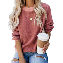 New Arrival Long Sleeve Solid Women Loose Sweaters
