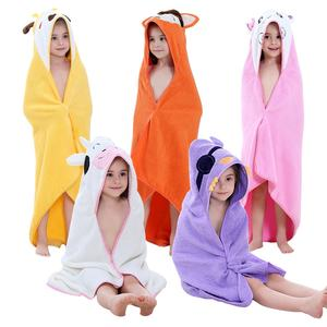 MICHLEY Kids Beach Towels Summer Hooded Cartoon Children's towel