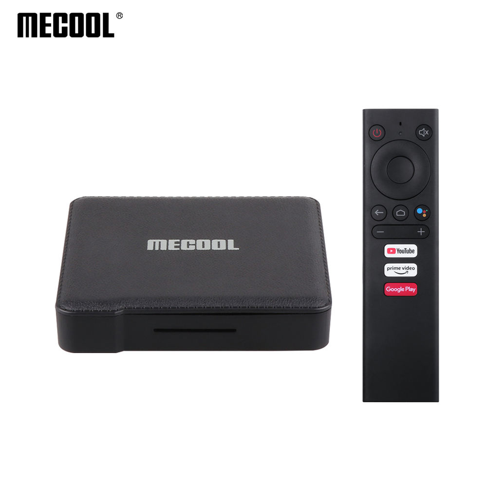 Preço de atacado MECOOL KM1 Amlogic S905X3 Certificada Google Chromecast Inteligente Internet Media Play 4K Android TV Set Top Box caixa