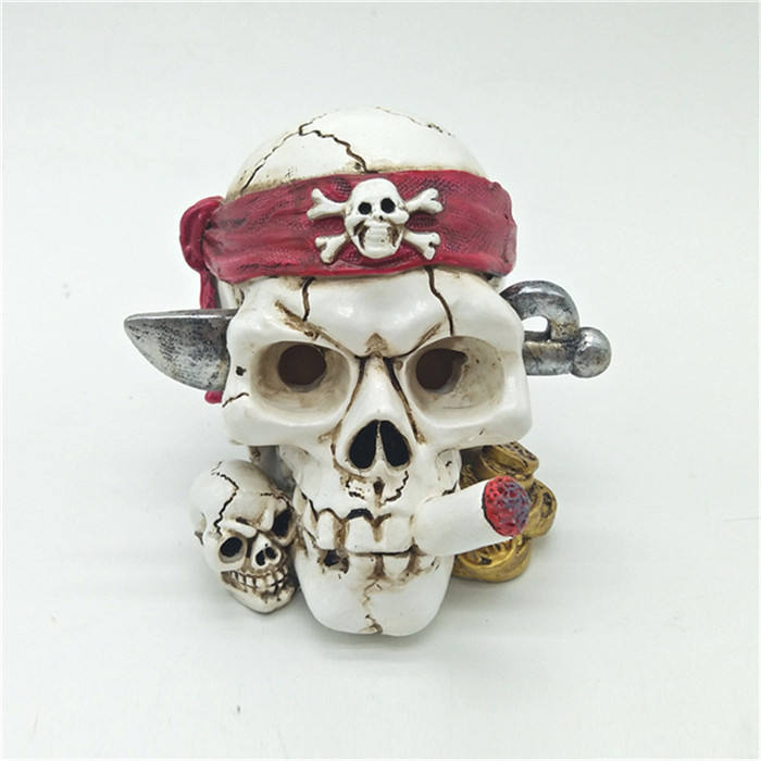 Polyresin skull head accessories craft resin crafts supplies from china