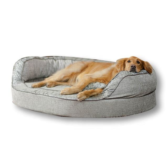 Manufacturer Roll-up Cozy orthopedic memory foam foldable wicker dog bed