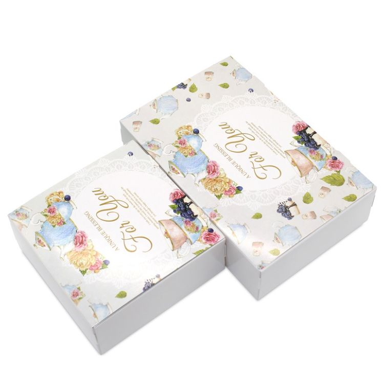Wholesale Printing Biscuit Cookie Box Packaging / Food Grade Quality Packaging Box