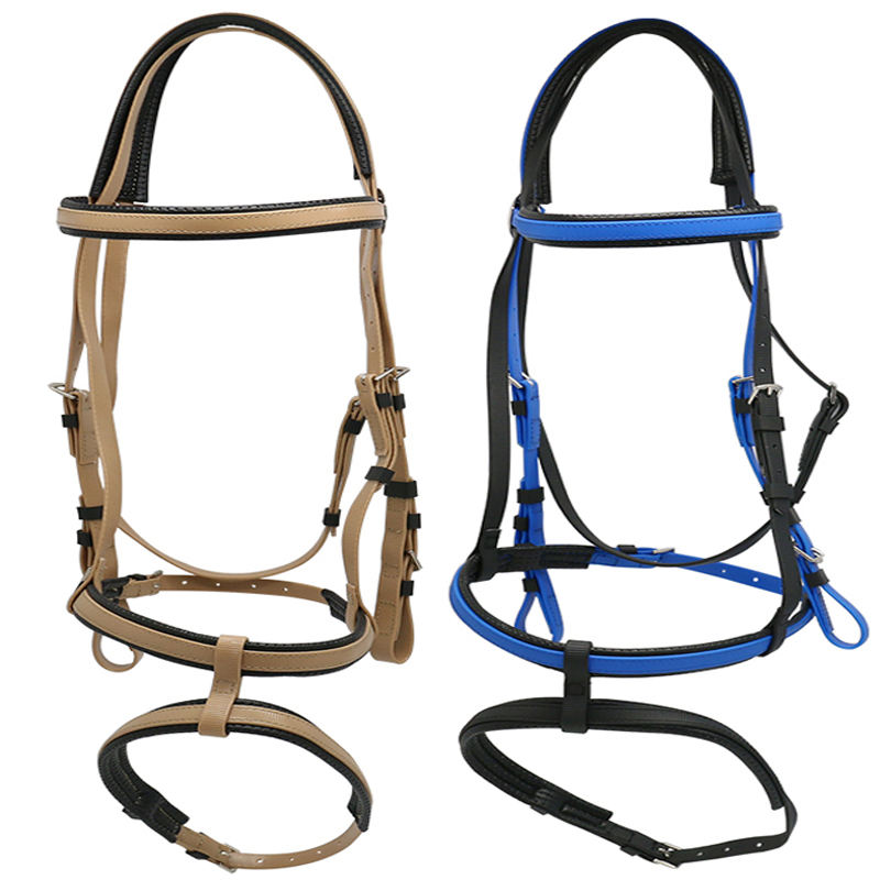 Equestrian Equipment Horse bridle and Rein made of PVC trail tack trail riding equipment