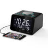 New Arrival Brightness Adjustable Backlit LCD Digital Display Smart Table Desk Alarm Clock Radio