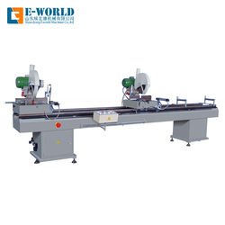 PVC door and window making machine double head saw cutting