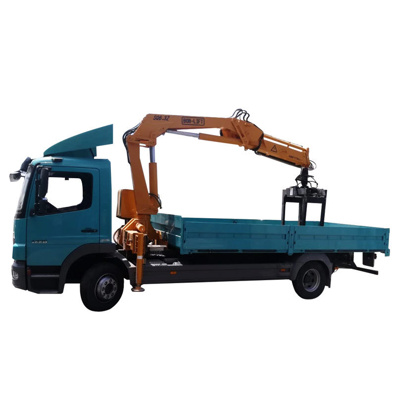 Hydraulic Arm Block Grapple Lifting Crane Truck Mounted