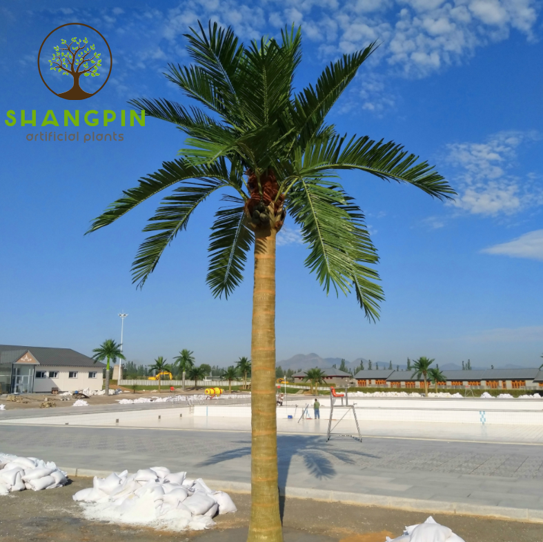 Sell high quality new product plastic coconut tree artificial fake plant tree outdoor decoration