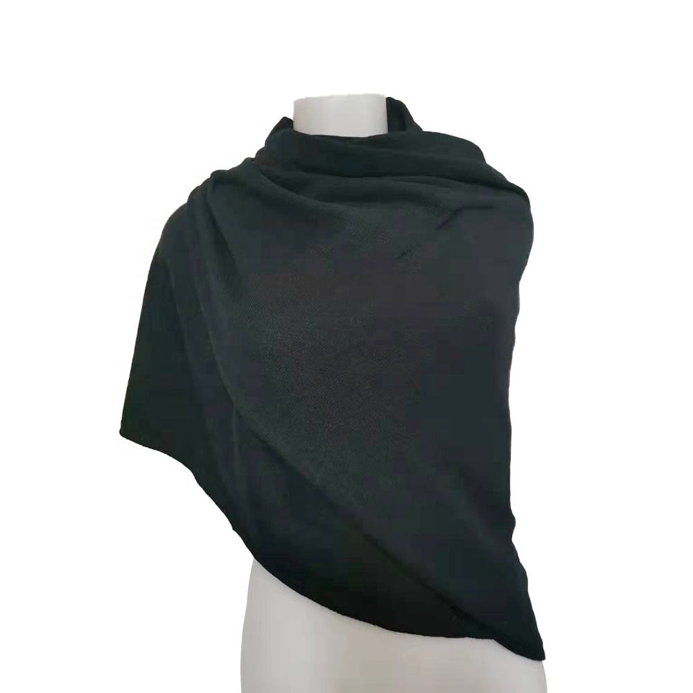 Low MOQ Designer Hijab Plus Size Plain Head Scarf- Made In Italy- 5%cashmere