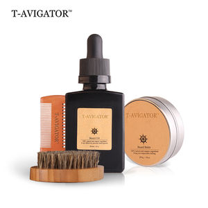 Private Label Organic Beard Care Grooming Oil Beard Shaping Tool Kit For Men
