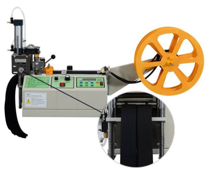 Automatic hot knife blade nylon webbing tape ribbon cutter cutting machine in stock