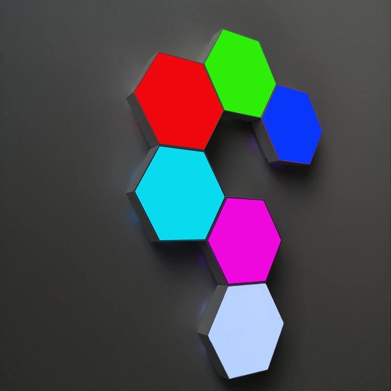 2020 new colorful Hexagonal LED Wall Tile Lights Quantum touch lights with remote