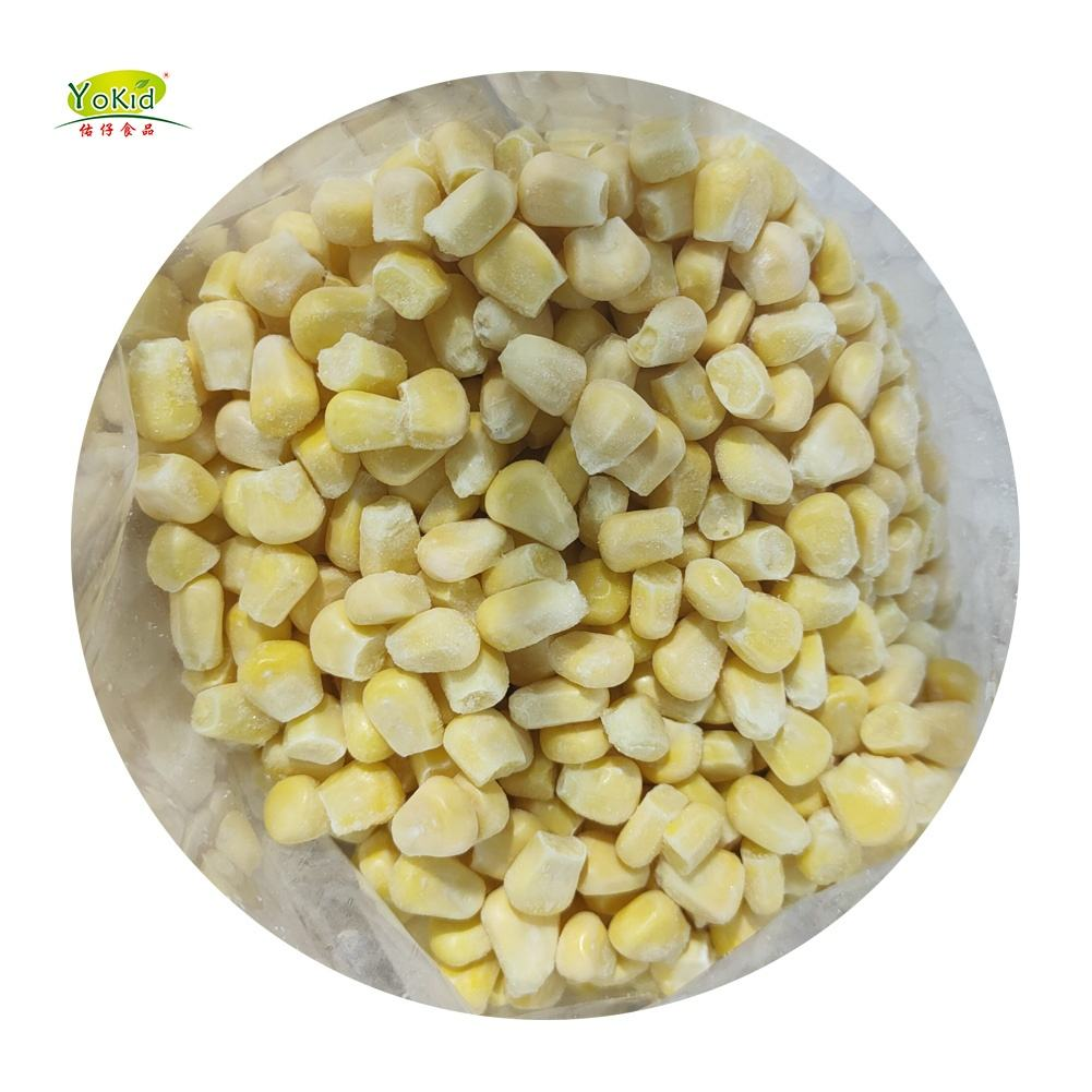 Types Of Yellow Bulk Sweet Organic IQF Frozen Whole Kernel Corn