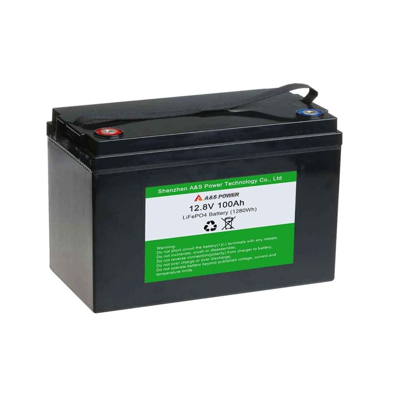 Top quality lfp lithium battery lifepo4 12v 100ah deep cycle battery pack with ABS shell