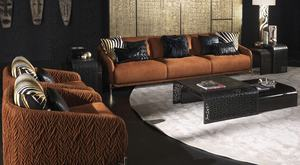 Luxury leather sofa set for hotel and villa projects