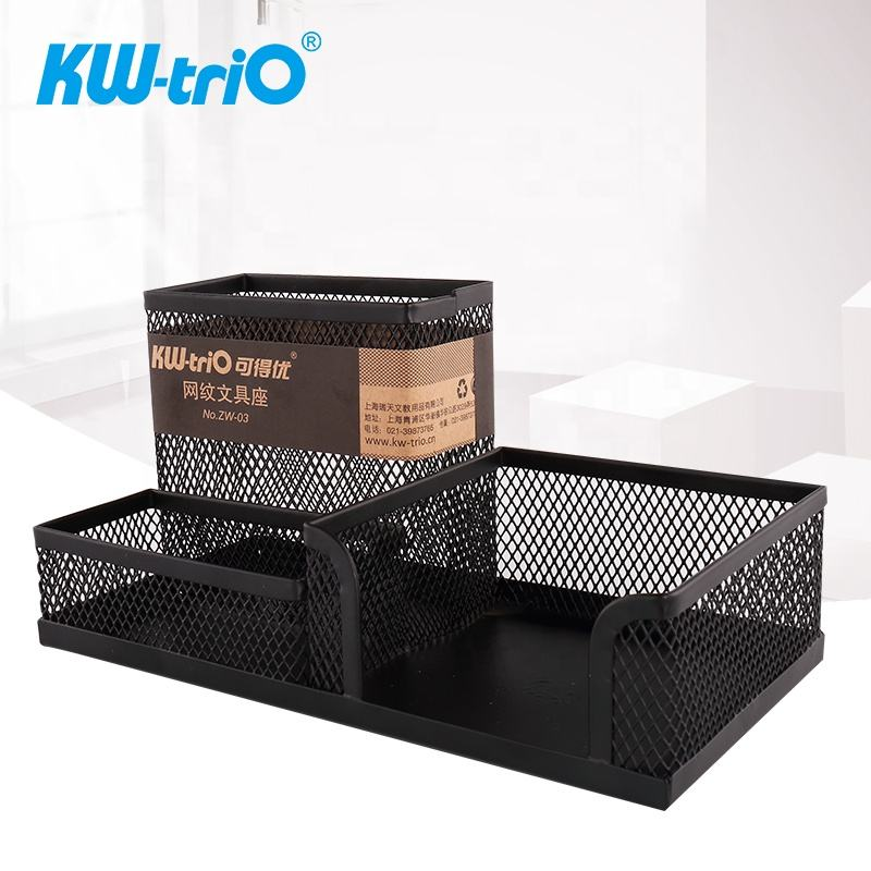 Hot Sale 3 Compartments Good Quality and Good Price Mesh Desk Organizer