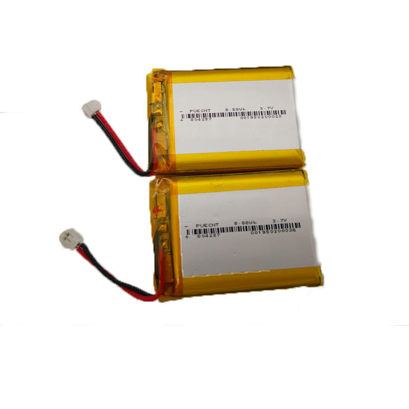 high quality lithium ion battery 804257 rechargeable polymer battery 3.7v 2400mah li ion battery