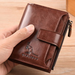 Anti-theft brush anti-demagnetization multifunctional multi-card wallet men custom LOGO large capacity wallet men