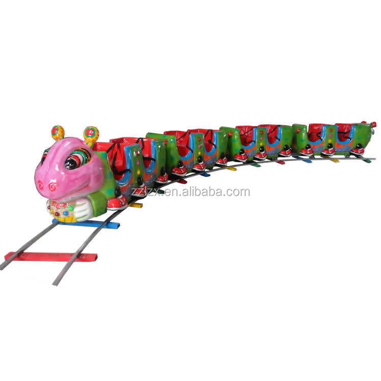 Karneval Thema Park ausrüstung hersteller Amusement park maschine <span class=keywords><strong>kinder</strong></span> spiel elektrische mini track zug <span class=keywords><strong>fahrten</strong></span> für verkauf
