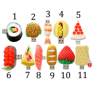 Restaurant Promotionnel Fruits Hamburger Sushi Clé Usb 64 Go En Vrac En Gros usb lecteur Flash lot