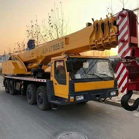 Used Terex LT1055 truck crane 50ton changjiang for sale