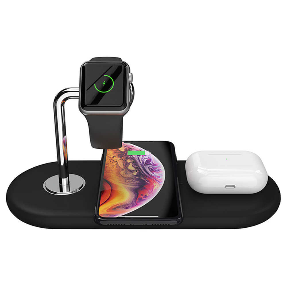 2020 New Arrival 3 in 1 Wireless Charger Stand 10W Wireless Phone Charging Station Charging Dock