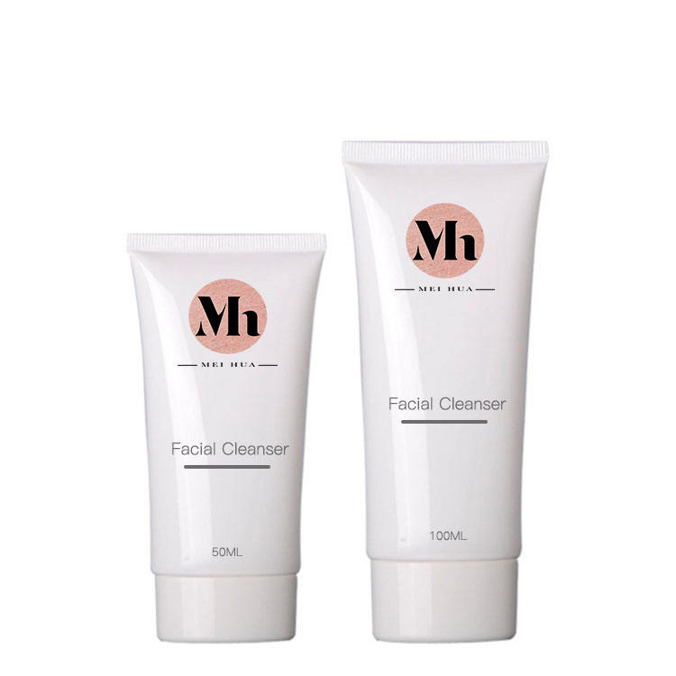 Customized korean cosmetic pink clay herbal pore clean gentle cleaning milk foam face cleanser