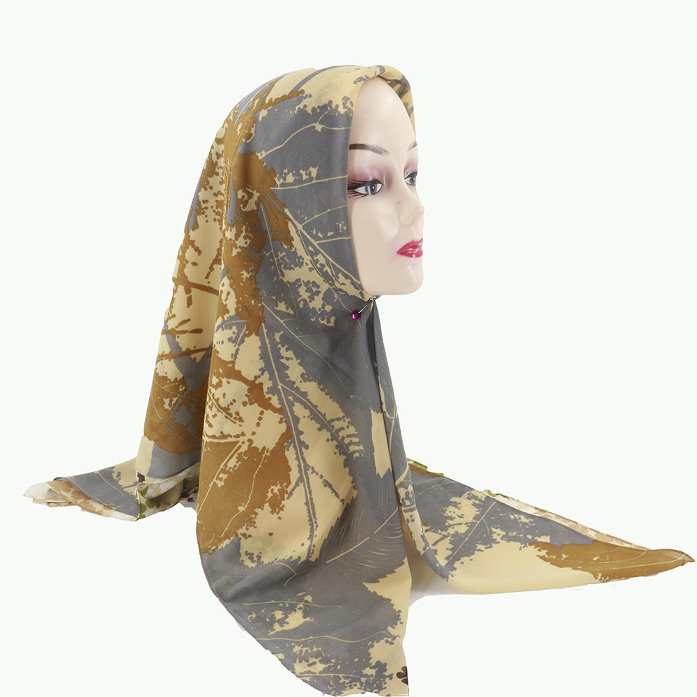 2020 Latest Scarves Hijabs Turkish Bawal Cotton Printed Hijabs Women Customised Scarf