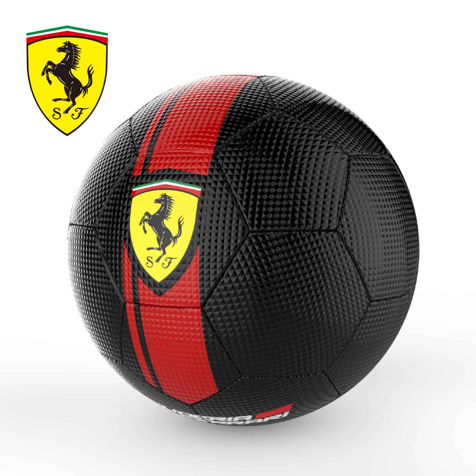 2020 new style high quality FERRARI Sewing machine PVC material soccer ball/football