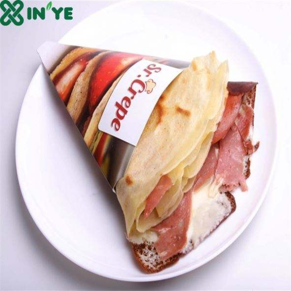 Eco-Frinedly Holder Food Grade Crepe Cone Paper