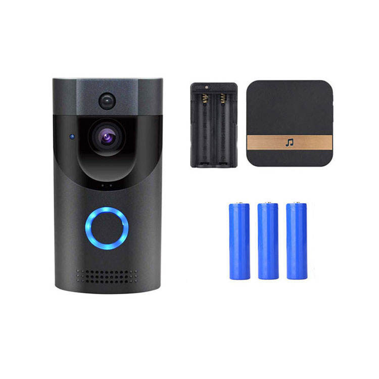 Wireless Door Bell 720P HD Wireless Home Security Doorbell Camera with Dingdong 16GB Storage Card 2 Rechargeable Battery