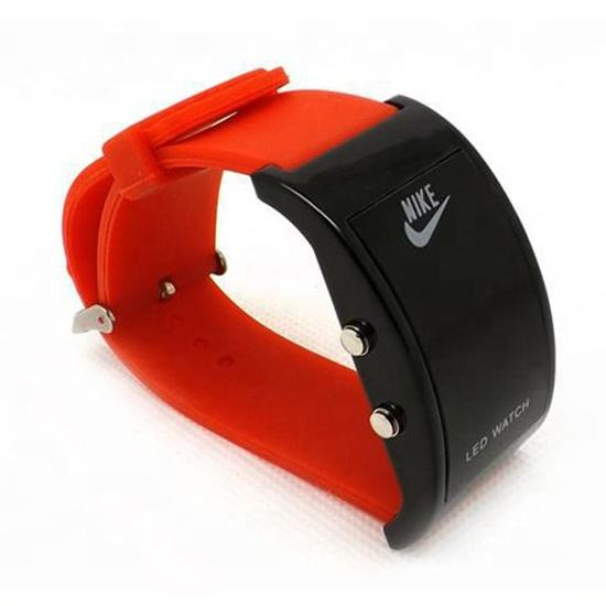 new led wrist watch with silicone band and quartz movement any color available wrist watches