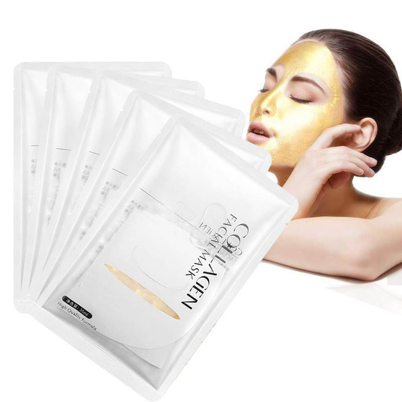 Amazon Hot Bulk Sale Women Anti Ageing Puffiness Skincare 24 K Peel Off Hydro Collagen 24k Facial Golden Mask for Face